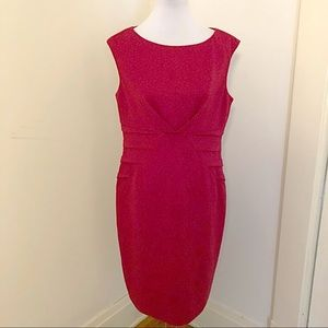 Adrianna papell red structured print dress sz 14